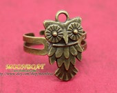 Cute Brass Owl  Ring Adjustable MB204