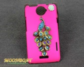 Beautiful Peacock , Flower And Plum Hard Case Cover For HTC One X, HTC S720e,HTC mb513