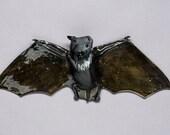 Small Ceramic Bat Wall Sculpture