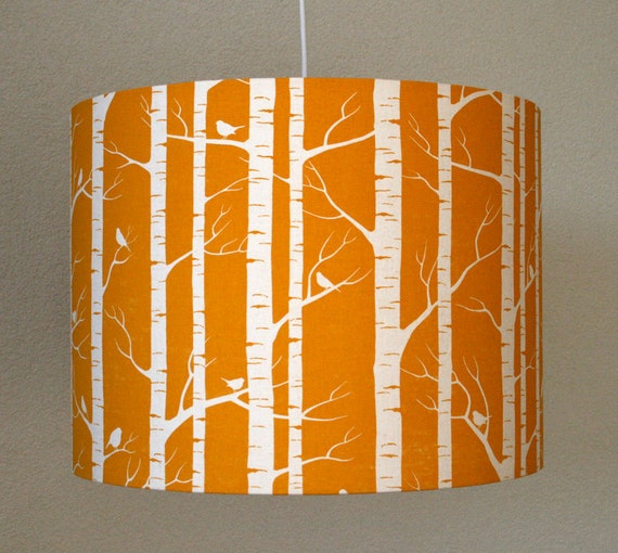 Lamp shade Forest/ Trees - made of sustainable & organic textile