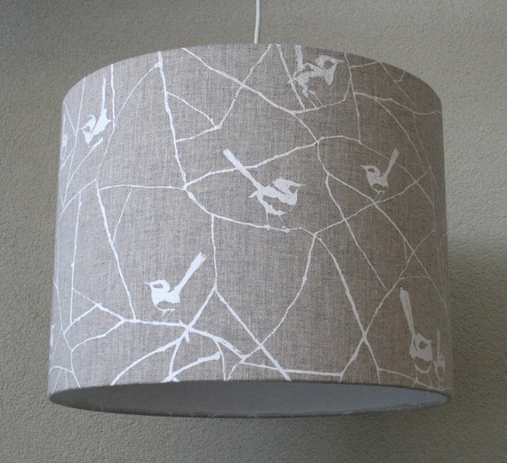 Bird Lamp Shade: Lamp Shade Birds Made Of Sustainable & Organic Textile By