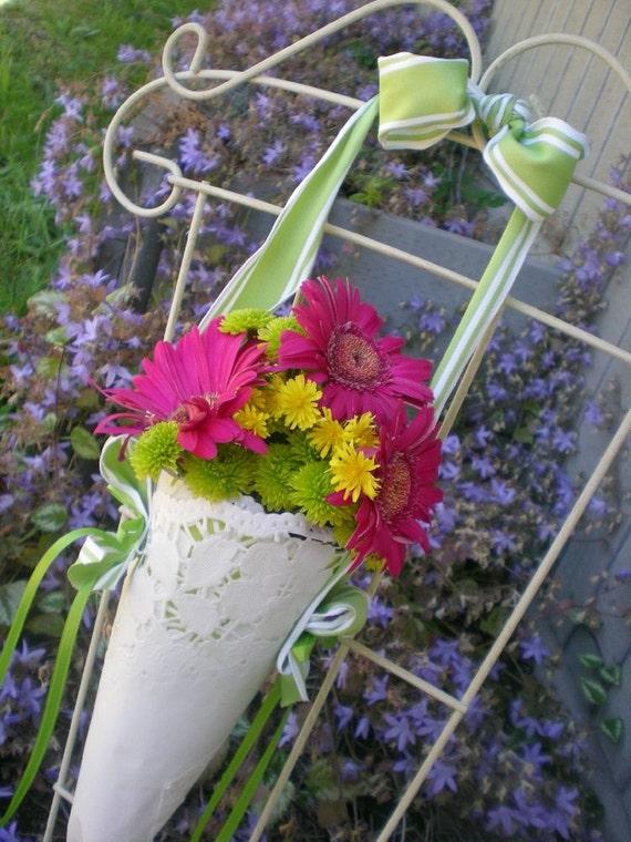 Wedding Decoration Flowers Cone By Weddingwow On Etsy