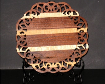 Hard Maple and Walnut Dresser/Table Tray