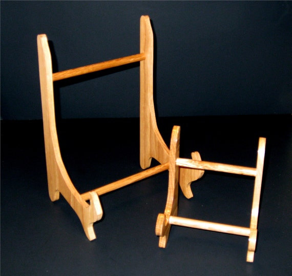 Easel for Picture Frame or Art Work Made From Red Oak