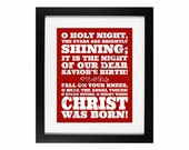 O Holy Night | Holiday Home Decor Digital Printable - INSTANT DOWNLOAD