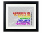 """Quote Digital Printable - Instant Download: """"Walk on a Rainbow Trail"""" by Robert Motherwell"""