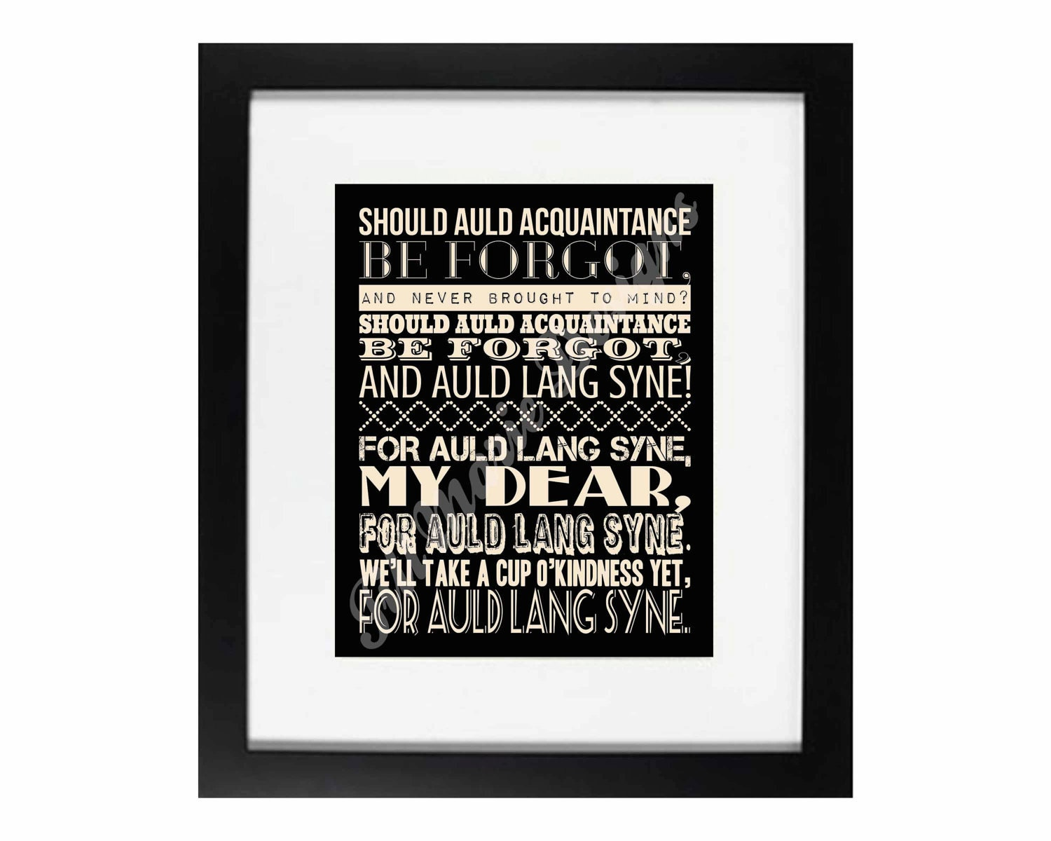 Ridiculous image in auld lang syne lyrics printable