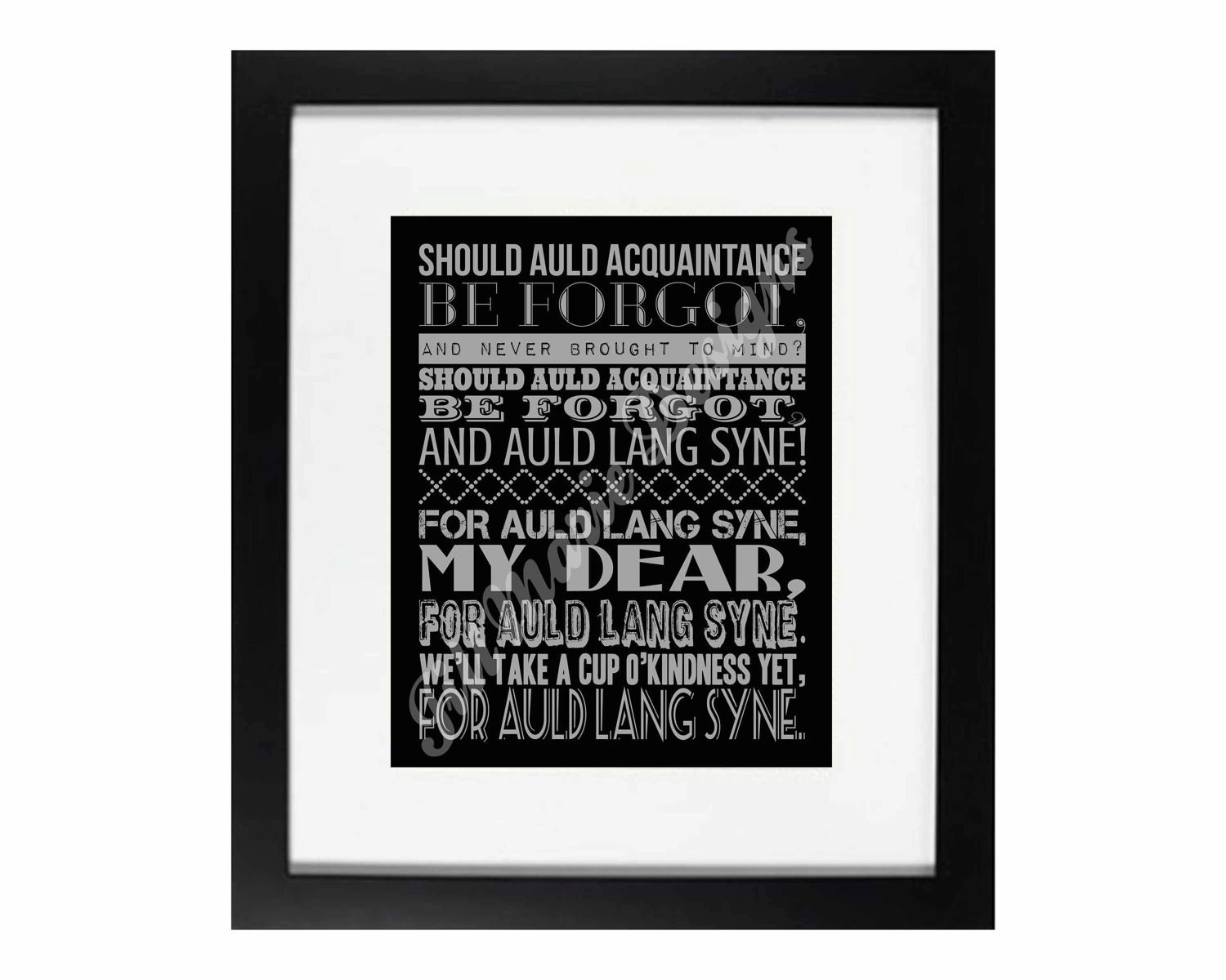 This is an image of Monster Auld Lang Syne Lyrics Printable