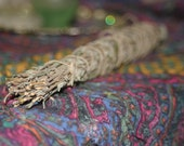 Dried lavender herb smudge stick