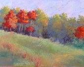 Fall in Georgia Pastel Landscape