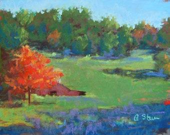 Georgia Farm Pastel Landscape