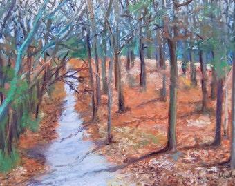 Georgia Winter Pastel Landscape