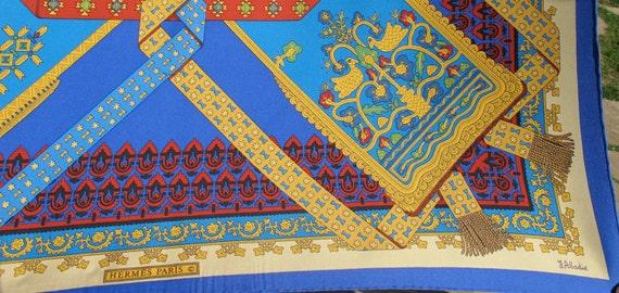 Sale -Vintage HERMES PARIS Brins d'or Silk Scarf Julia Abadie -200.00