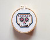 Mexican Skull- Sugar Skull, Cross Stitch Pattern, Modern Cross Stitch, Funny Cross Stitch, Easy Cross Stitch Pattern, PDF Instant Download