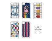 Patterns for iPhone  -5 Cross Stitch PATTERNS- Cross Stitch Pattern, iPhone Patterns, Macaroon Pattern, Nyan Cat Pattern, Cross Stitch Gift