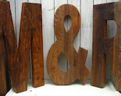 """Rustic Barn Wood Wedding Letters - Large Decorative Letters Set of Three 20"""" Made to Order"""