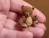 ORIGINAL BEAR ((made to order)) -artist Miniature(Thread)Doll house/crocheted collectible-OOAK