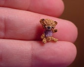 "Original EXTREME MICRO Amigurumi Bear- 1/2"" tall artist miniature(thread)doll house-OOAK"