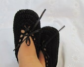 Goth Baby Slippers