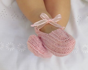 Pink Baby Girl Booties