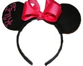 Personalized Minnie Mouse ears headband perfect for trip to disneyland, costume, party, dressup