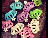 Twenty beautiful crown rhinestone resins for crafting or scrap booking you pick colors