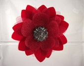 Gorgeous Red Jeweled Hair Clip
