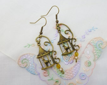 The Caged Bird Sings Earrings