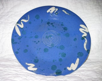 Blue Garlic Oil Plate