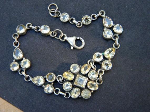 925 Citrine Semi Precious Sterling Vintage Bracelet