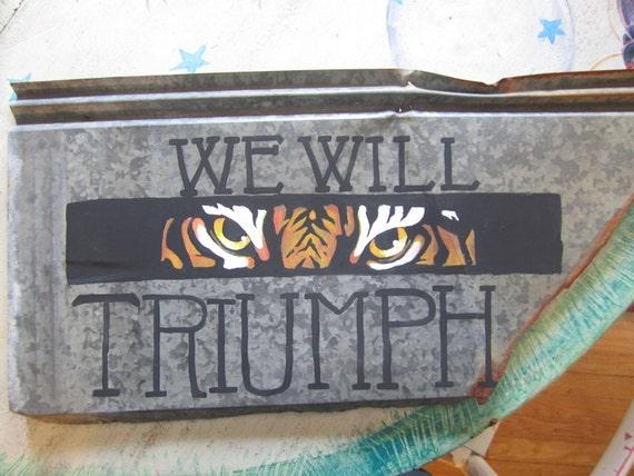 Collegiate Custom Painted Rustic Tin Signs