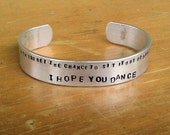 I Hope You Dance - Custom-stamped Bracelet (1o16-3.6To, 3o32-2.0Y) - darkerblue