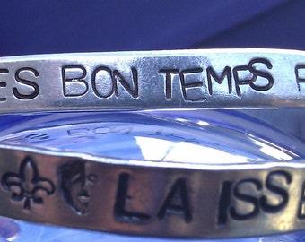 Mardi Gras Laissez Les Bon Temps Rouler Metal Stamp Aluminum Bracelet (1o8,4.0OpFdL)
