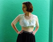 1960s cotton and lace crop top