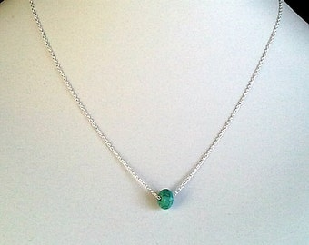 Tiny turquoise Necklace - so cute,simple, modern, everyday jewelry, friendship gift