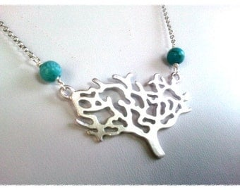 Lovely Tree Pendant Necklace, Friendship, wedding necklace, charm, Best Friends,Necklace.