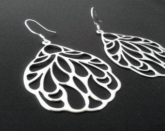 Oriental Fan Drop Earrings,Dangle Earrings, bridesmaid gifts,Wedding jewelry - Modern, High Fashion