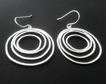 Forever Love Circle Earrings - Drop, Dangle, Earrings,bridesmaid gifts,Wedding jewelry