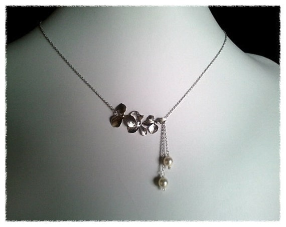 ... necklace, wedding necklace, bridal gift, Lariat, Beadwork Necklace