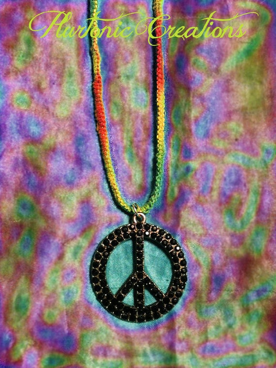 Four Twenty Inspired - Rasta Peace Sign Necklace