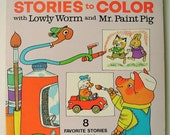 Richard Scarry's Stories to Color with Lowly Worm and Mr. Paint Pig. 8 Favorite Stories to Read and Color