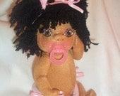 "16"" Cloth  Soft Sculpture Doll Baby ""HUMAN OGRE"" Custom Order"