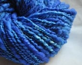 Handspun Yarn - Deep Blue Sea - Vibrant Blue - thread plied