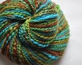 RESERVED for Sandy - Handspun Yarn - Chameleon - spring time bright colors