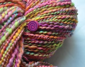 Handspun Yarn - Fruity Bright - with wooden beads