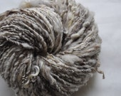 Handspun Yarn - Vintage Natural - with tussah silk, sparkle and lace