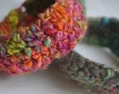 Multi coloured - Eco Felted Bracelets - Tropical colours