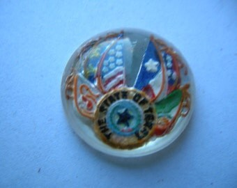 Vintage Glass Intaglio State of Texas  # N 9