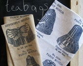 Tea towels, Fancy Moulds print, french navy and white