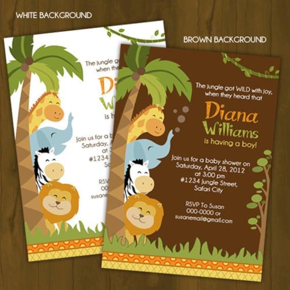 safari baby shower invitation jungle baby shower printable